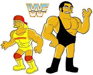 WWF hulk hogan & andre the giant