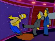 Kodos as Clinton kicks Homer out