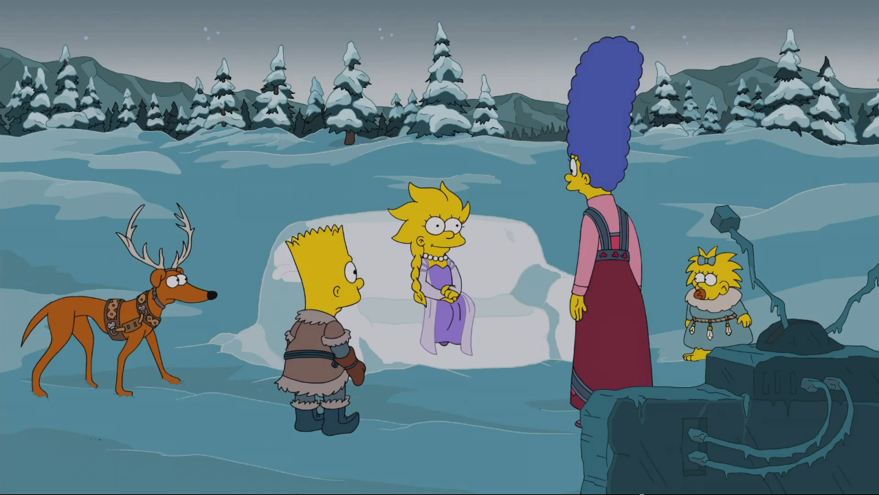 Frozen Couch Gag