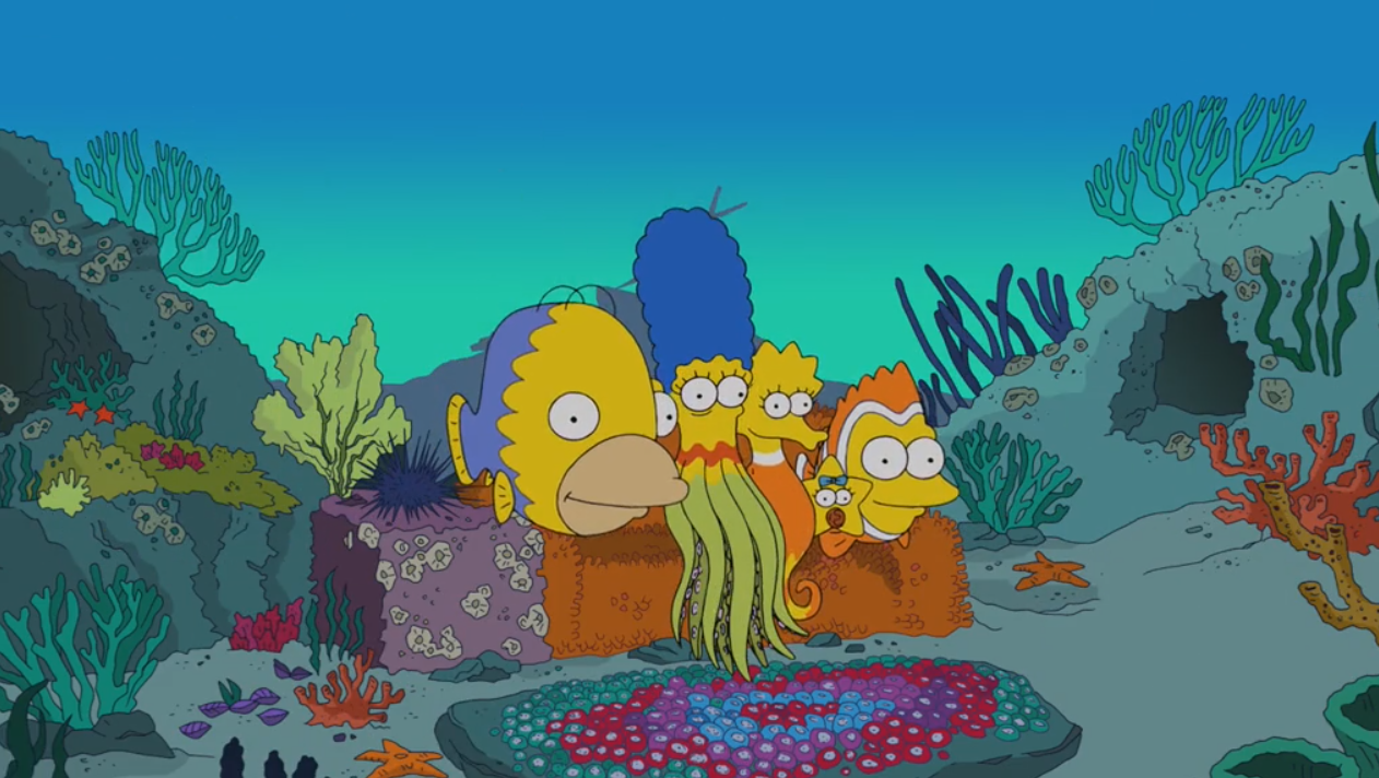 Fish couch gag