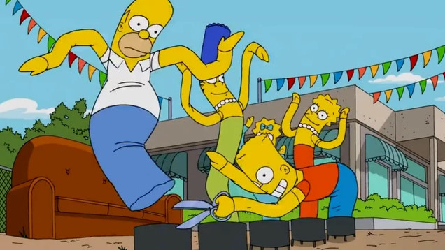 Flailing Tube Man Balloon Family couch gag