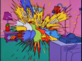 Smeared couch gag