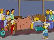 Homer aborrecido loja 18x18 dormiu