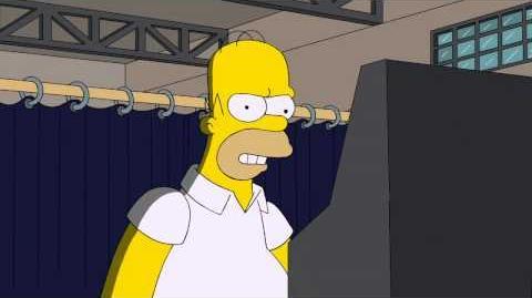 Em Comercial da nova Temporada Homer vota para Presidente