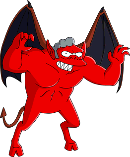 Moe-looking Satan