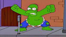 Homer-incridible hulk