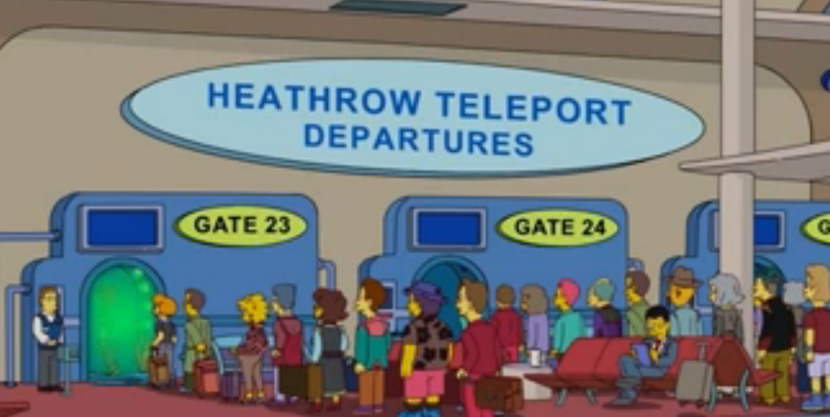 Heathrow Teleport Departures