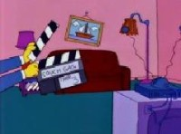 Clapboard Operator (couch gag)