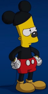 Bart as Mickey Mouse