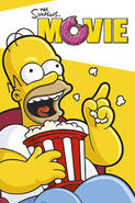 The Simpsons Movie Homer laughing in the Theater Poster