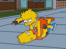 Bart lisa briga cabelo