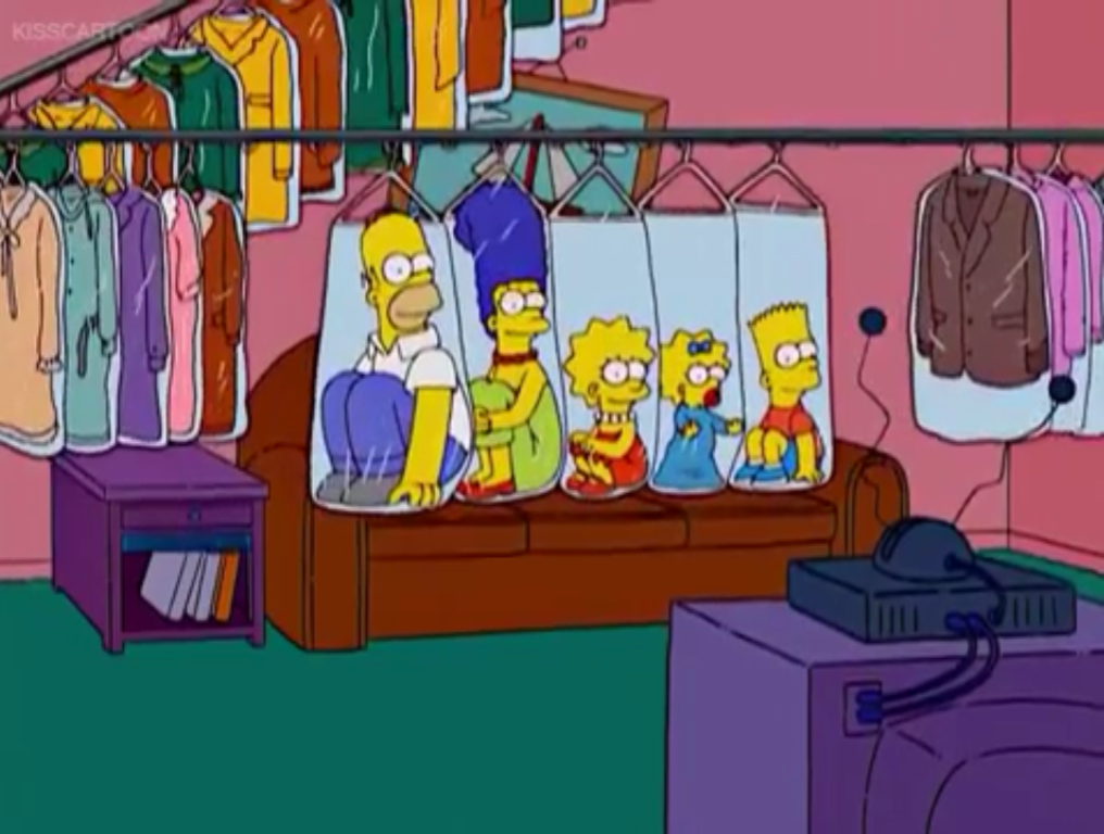 Dry-Cleaning Rack couch gag