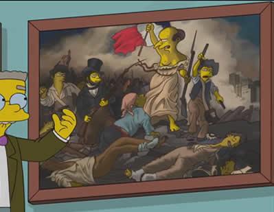 A Liberdade Guiando o Povo - Pintura