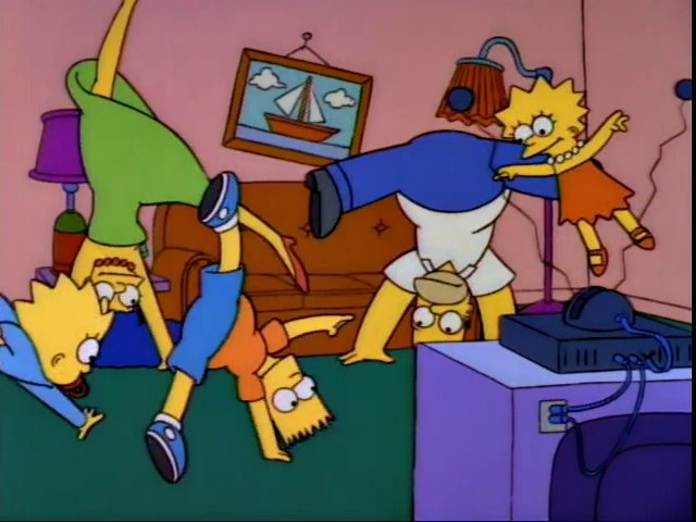 Cartwheels couch gag