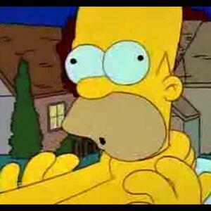Angry Homer In Bed Blank