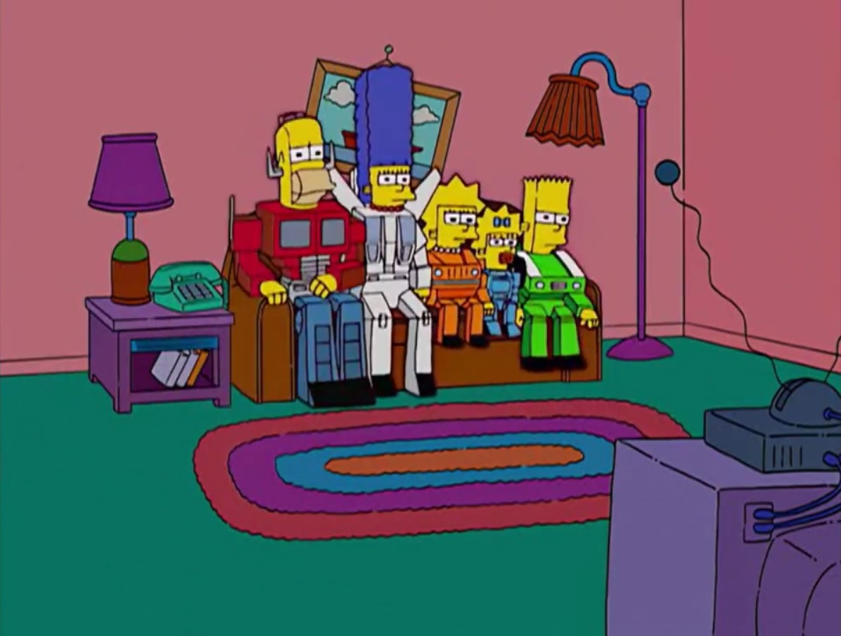 Transformers couch gag