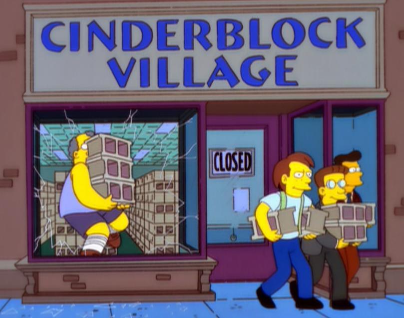 Cinderblock Village
