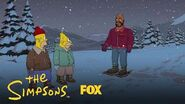 Homer Runs Into Shaq In The Forest Season 29 Ep