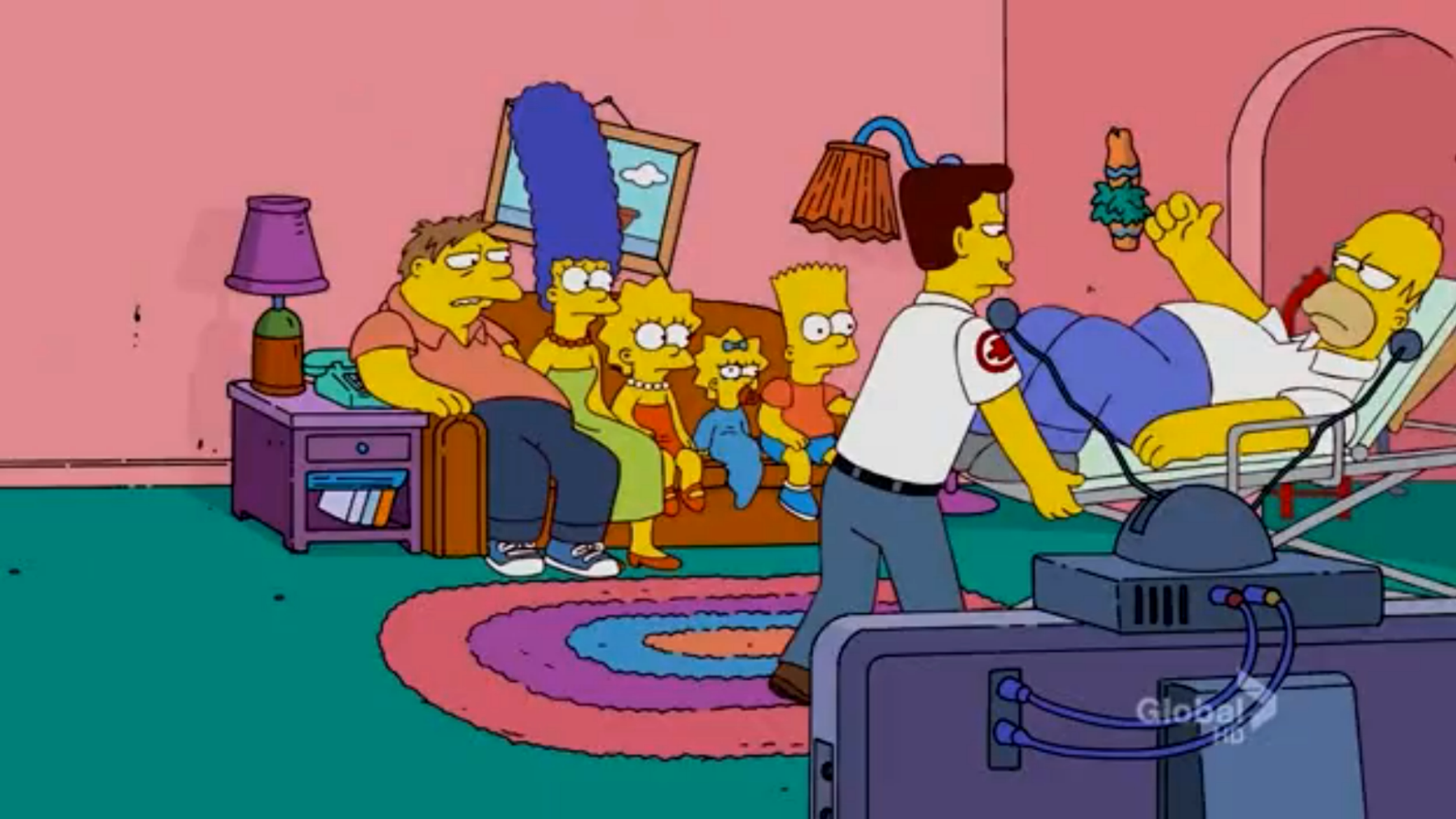 Substituting for Homer couch gag