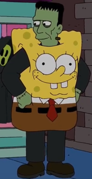 Frankenstein's Monster as Spongebob