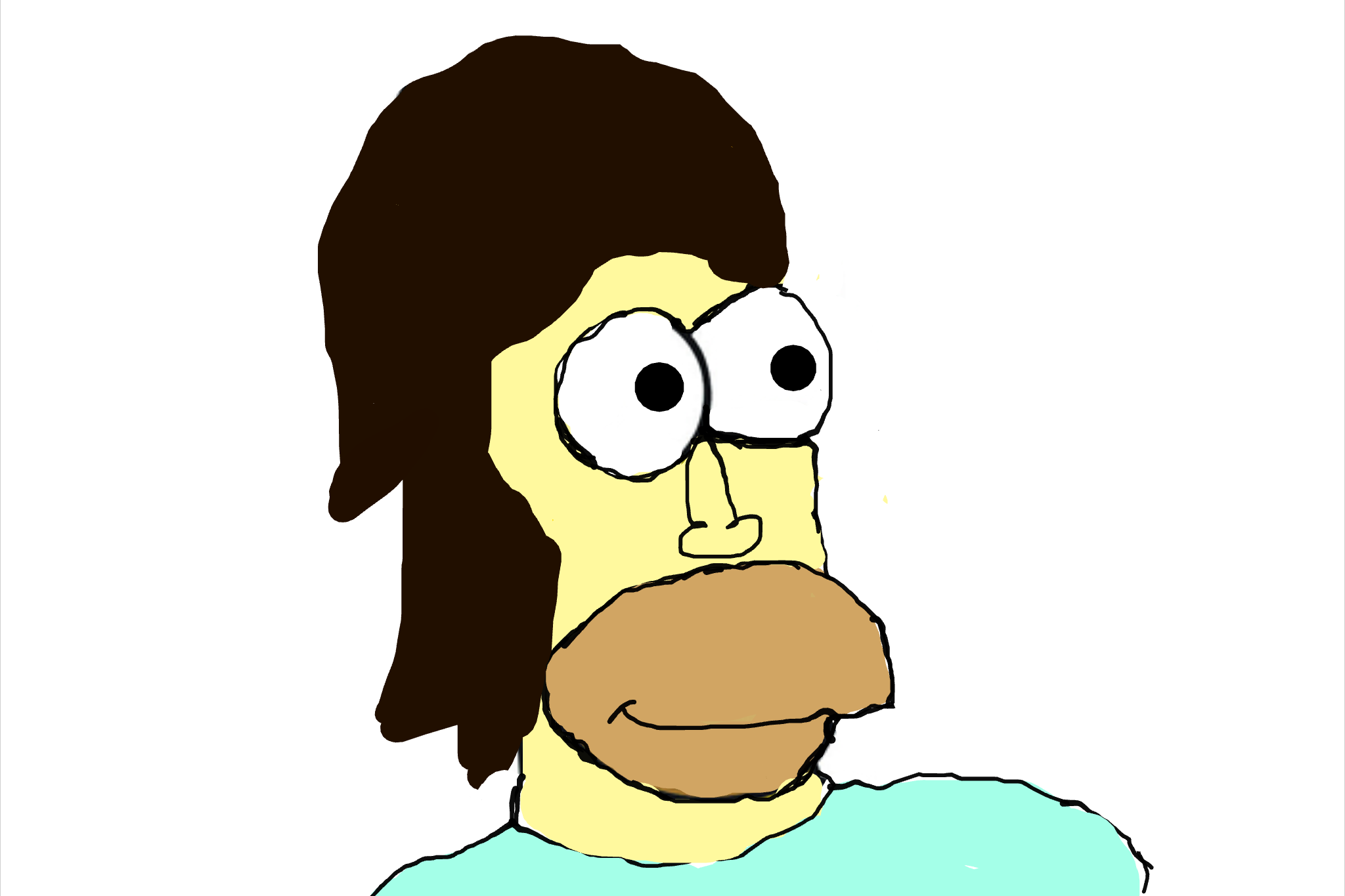 BetaOmega3/Look at my awful Homer Simpson re-do on Google Canvas