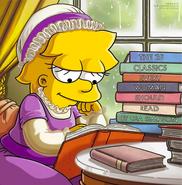 Lisa z książką główna