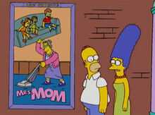 Homer marge cartaz mrs mom