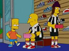 Bart provocando malvados loja