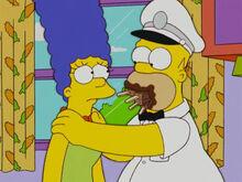 Marge homer boca cheia picolés