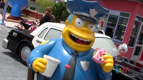 O Parque Temático dos Simpsons em Orlando.