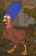 Marge as a Turkey