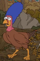 Marge as a Turkey