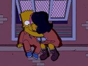 Gina Kisses Bart