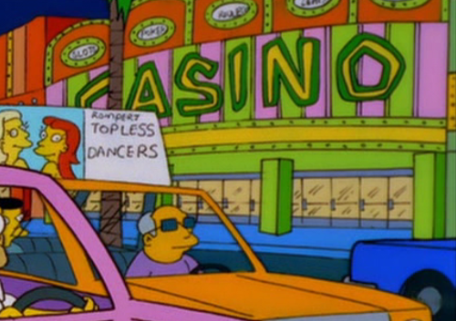 The simpsons casino music games for playstation 2