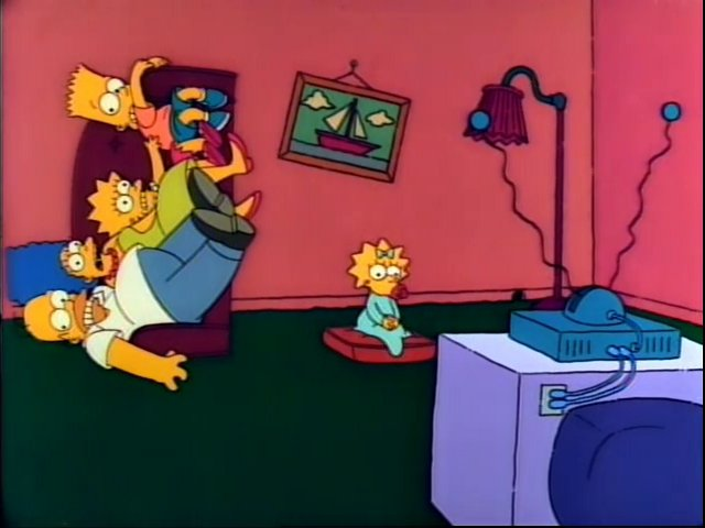 Tipping Sidewards Couch couch gag