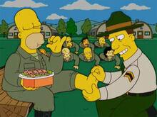 Homer quartel sargento pega pé