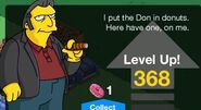 Fat Tony Tapped Out Level Up Screen 3