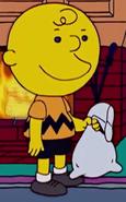 Bart as Charlie Brown