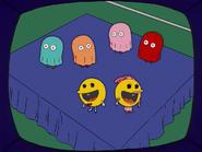HomerAndNed'sHailMaryPass-SBXVIHalftimeShow-PacManDancing