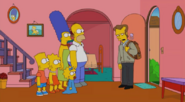 Wayne bids farewell to the simpsons