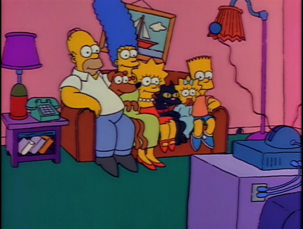 Pets and Family couch gag