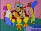 The Flintstones couch gag
