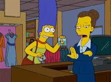 Marge empolgada atendente loja não