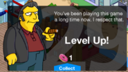 Fat Tony Tapped Out Level Up Screen