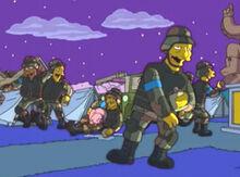 Soldados bebados porco