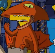 Bart as a Pterodactyl