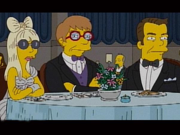 Lady Gaga e Elton John viram personagens de 'Os Simpsons'