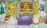 Farrah's iconic poster in the simpsons