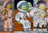 Marge's spacesuit coach gag