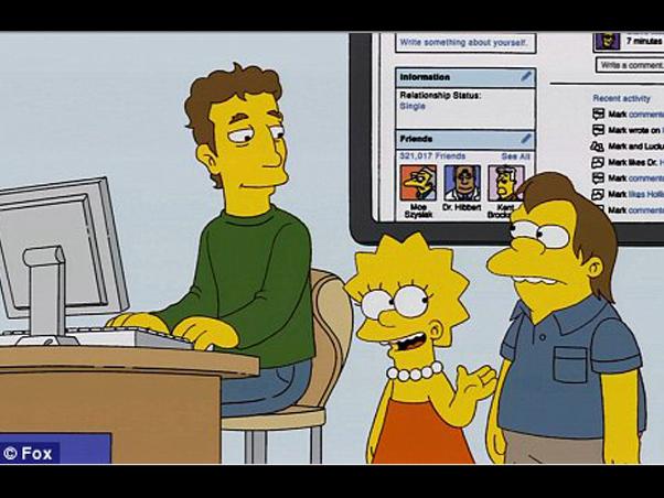 Criador do Facebook fará participação em 'Os Simpsons'